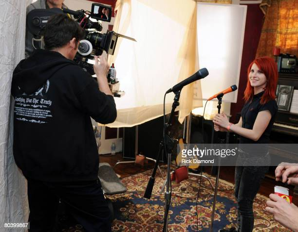NASHVILLE TN MARCH 02 *EXCLUSIVE COVERAGE* Paramore's 'That's What You Get' video shoot directed by Marcos Siega on Record Label Fueled by Ramen...
