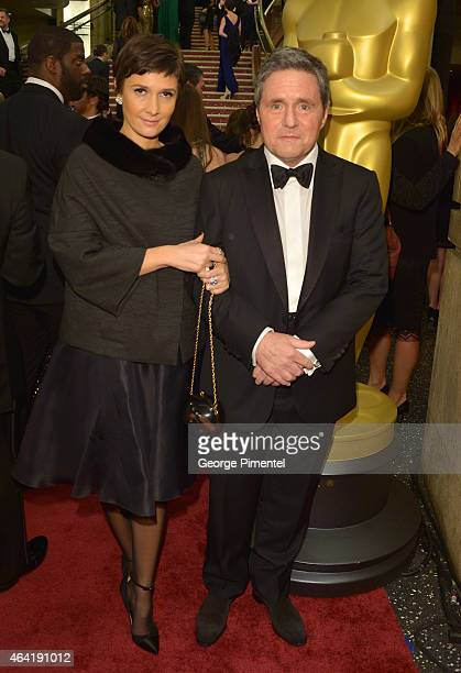Paramount Chairman and Chief Executive Officer Brad Grey and Cassandra Grey attend the 87th Annual Academy Awards at Hollywood Highland Center on...