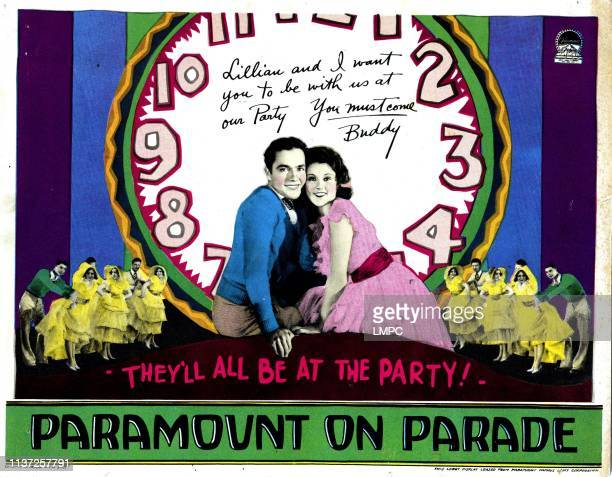 Paramount On Parade poster from left Charles 'Buddy' Rogers Lillian Roth 1930