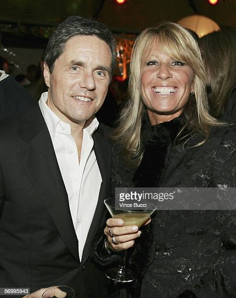 Paramount Pictures' Brad Grey and manager Cynthia Pett Dante attend a preOscar party at Endeavor partner Ari Emmanuel's home on March 3 2006 in the...