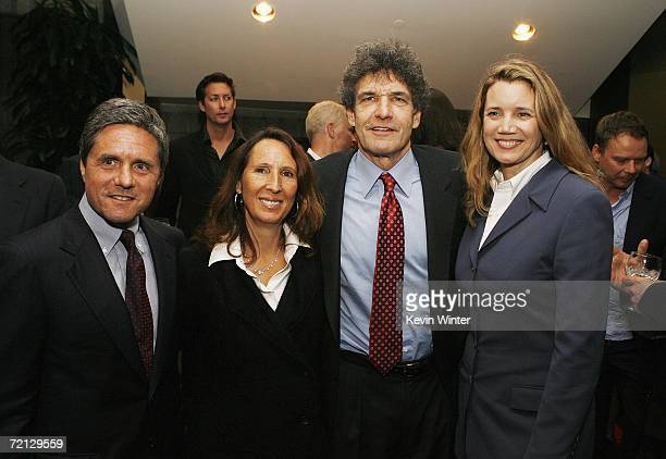 Paramount Picture's CEO Brad Grey his wife Jill and Warner Bros CoCOO Alan Horn and his wife Cindy pose at the afterparty for the premiere of...