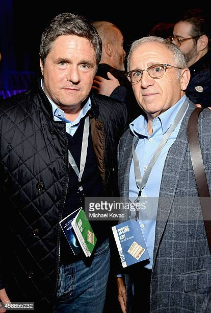 Paramount Pictures Chairman and CEO Brad Grey and Azoff MSG Entertainment LLC Chairman and CEO Irving Azoff attend the Vanity Fair New Establishment...