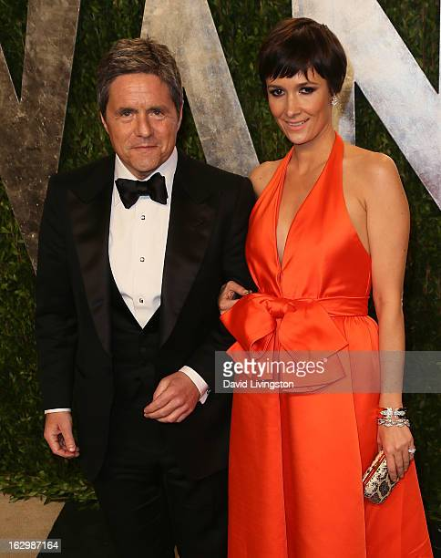 Paramount Pictures chairman and CEO Brad Grey and wife Cassandra Huysentuyt attend the 2013 Vanity Fair Oscar Party at the Sunset Tower Hotel on...