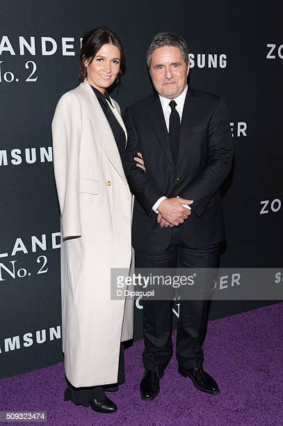 Paramount Pictures chairman and CEO Brad Grey and wife Cassandra Huysentruyt attend the 'Zoolander 2' world premiere at Alice Tully Hall on February...