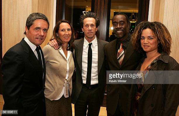 Paramount Pictures Chairman and CEO Brad Grey and wife Jill Grey producer Brian Grazer actors Don Cheadle and Bridgid Coulter arrive at the...