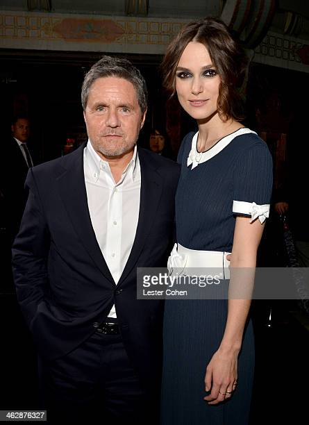 Paramount Pictures Chairman/CEO Brad Grey and actress Keira Knightley arrives at the premiere of Paramount Pictures' 'Jack Ryan Shadow Recruit' at...