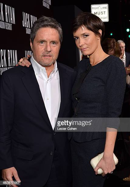 Paramount Pictures Chairman/CEO Brad Grey and Cassandra Huysentuyt arrive at the premiere of Paramount Pictures' 'Jack Ryan Shadow Recruit' at TCL...
