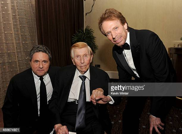 Paramount Pictures Chairman/CEO Brad Grey Viacom Executive Chairman Sumner Redstone and honoree Jerry Bruckheimer attend the 27th American...