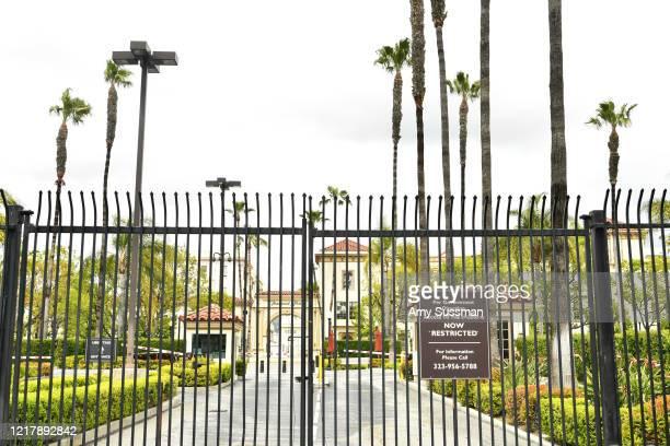 Paramount Studios halt film and TV production amid Coronavirus on April 08, 2020 in Los Angeles, California.