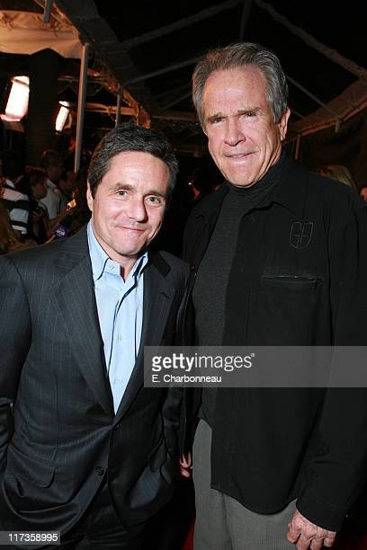 Paramount's Brad Grey and Warren Beatty during Paramount Classics' Ask The Dust Los Angeles Premiere at Egyptian Theatre in Los Angeles California...