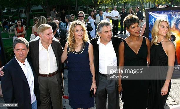 Paramount's Brad Grey Chairman of Viacom Sumner Redstone actress Michelle Pfeiffer actor Robert De Niro Grace De Niro and actress Claire Daines...