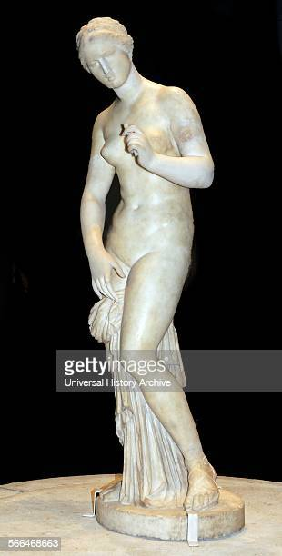 Parían marble statue of Aphrodite Roman period version of a Greek original of the 4th century BC from Ostia Italy