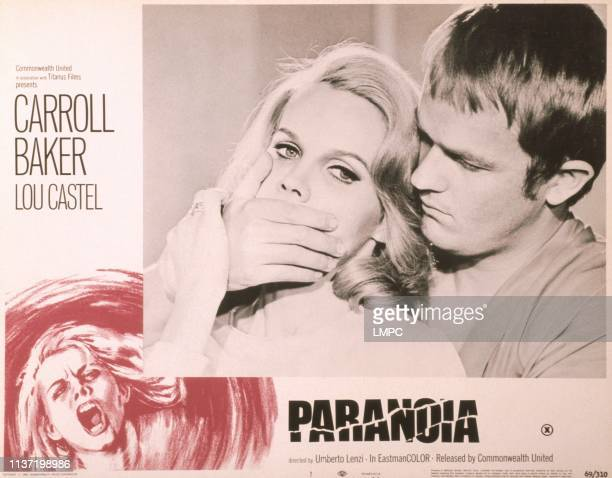 Paranoia US lobbycard from left Carroll Baker Lou Castel 1969