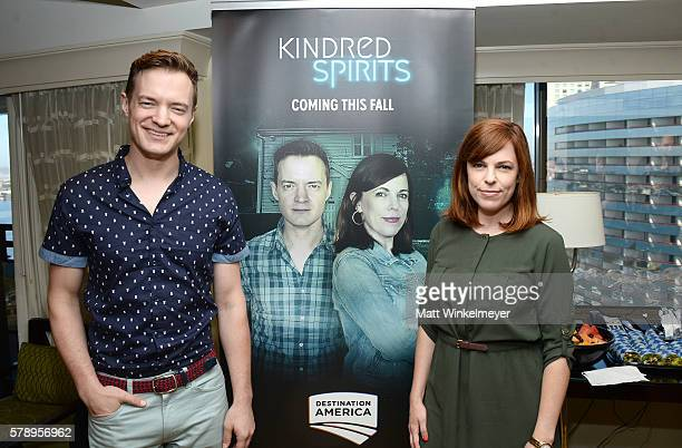 Paranormal investigators Adam Berry Amy Bruni attend ComicCon International 2016 Destination America's 'Supernatural' press conference at Hilton...
