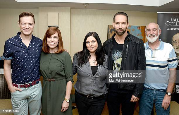 Paranormal investigators Adam Berry Amy Bruni Katrina Weidman Nick Groff and John Zaffis attend ComicCon International 2016 Destination America's...
