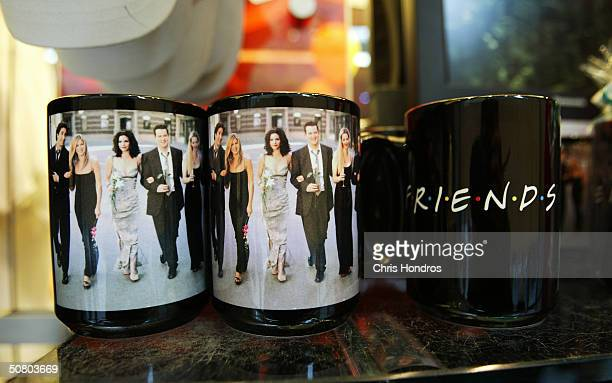 """Paraphernalia from the television show """"Friends"""" is seen May 5, 2004 at the NBC Experience store in Rockefeller Center in New York. """"Friends,"""" one of..."""