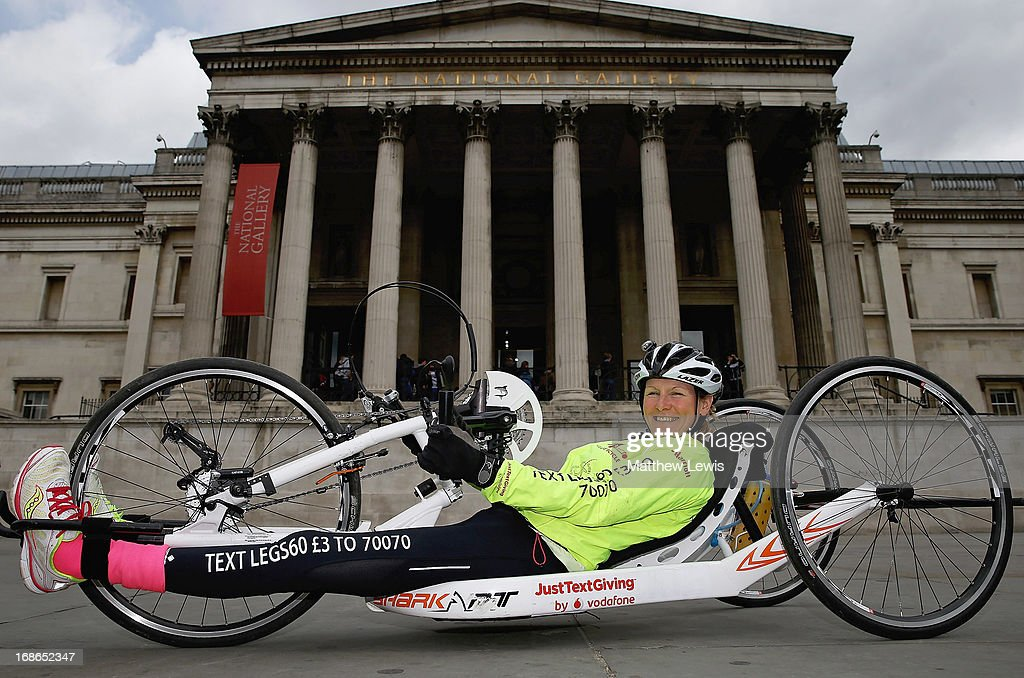 Claire Lomas' 640km Hand Bike Challenge Final in London : News Photo