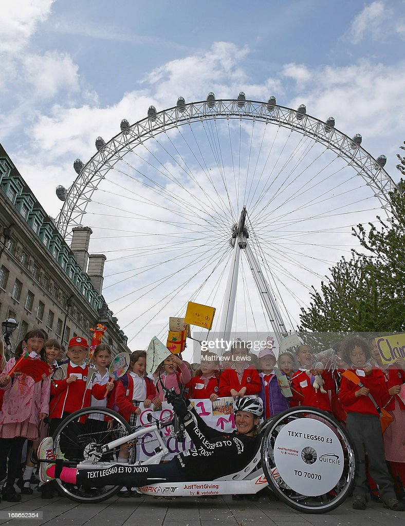 Claire Lomas' 640km Hand Bike Challenge Final in London : News Photo