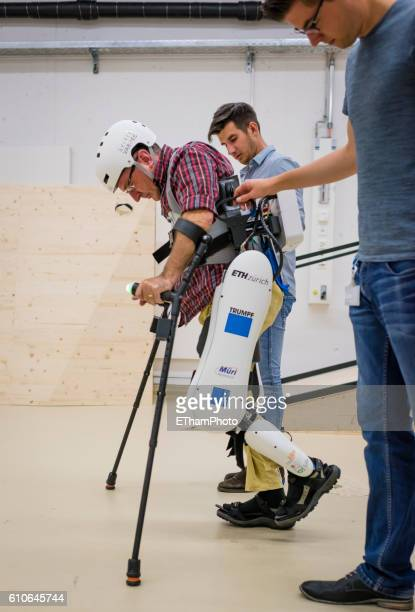 Paraplegic learns to walk again with electrically powered exoskeleton at research lab of ETH Zurich