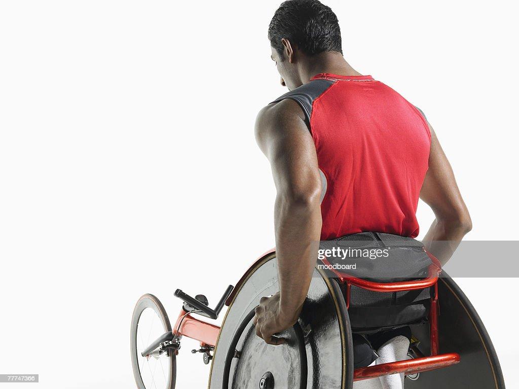 Paraplegic Racer : Stock Photo