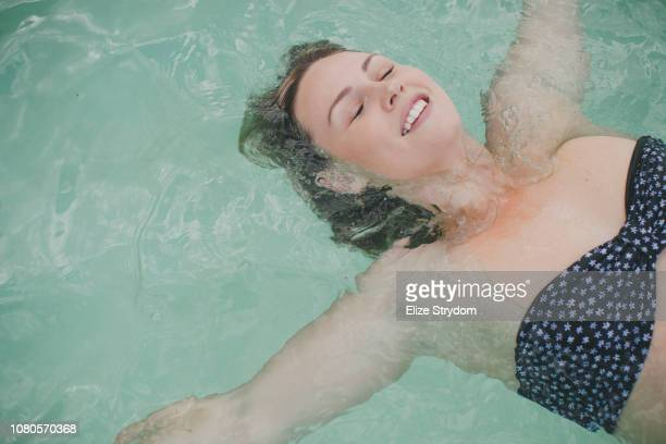 Paraplegic woman in a pool