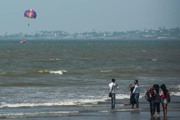 IND: Parasailing At Juhu Beach In Mumbai