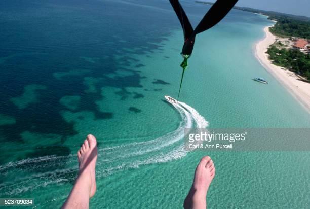 Parasailing off Nergril, Jamaica