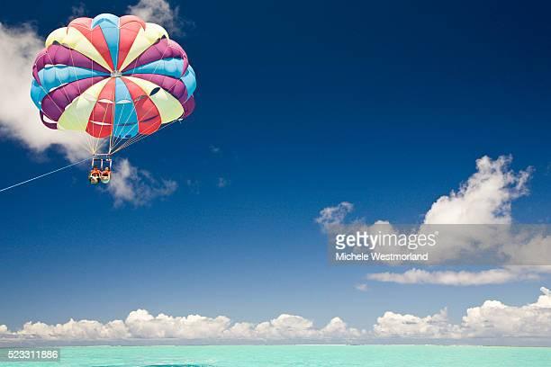 Parasailing Over Bora-Bora Lagoon