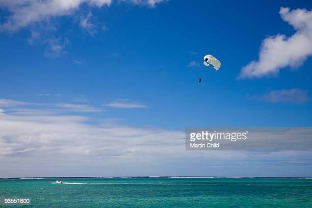 parasailing over the Indian Ocean