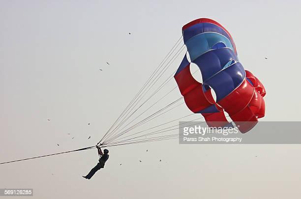 Parasailing recreational kiting activity