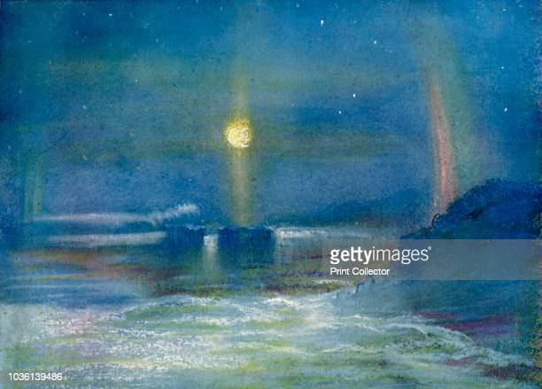 A Paraselene' circa 1908 Bright circular spot on a lunar halo caused by the refraction of moonlight by ice crystals in clouds AngloIrish explorer...