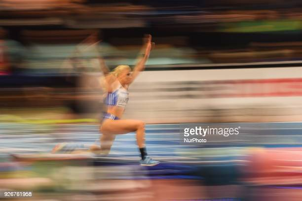 Paraskevi Papachristou ofGreece at triple jump at World indoor Athletics Championship 2018 Birmingham England on March 3 2018
