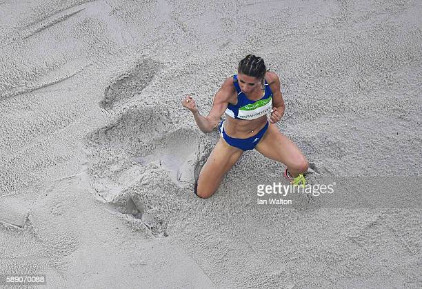 Paraskevi Papahristou of Greece competes in Women's Triple Jump Qualifying on Day 8 of the Rio 2016 Olympic Games at the Olympic Stadium on August 13...