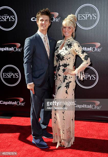Parasnowboard cross racer Evan Strong attends the 2014 ESPY Awards at Nokia Theatre LA Live on July 16 2014 in Los Angeles California