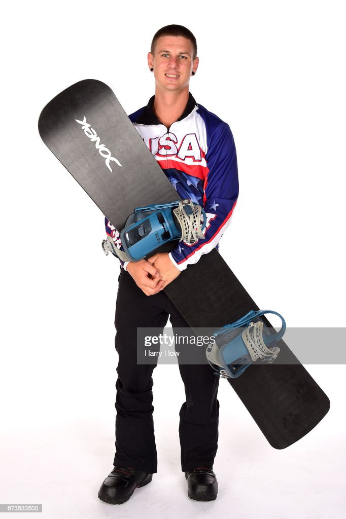 Para-snowboard Evan Strong poses for a portrait during the Team USA PyeongChang 2018 Winter Olympics portraits on April 26, 2017 in West Hollywood, California.