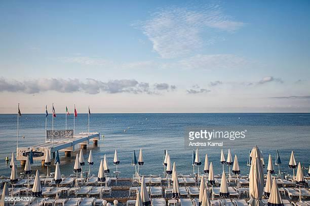 Parasols at Lido beach, Nice