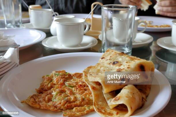 Paratha And Omelet (Asian Breakfast)
