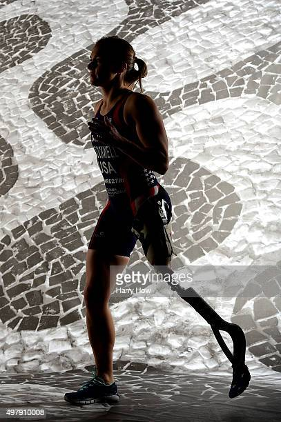 Paratriathlete Melissa Stockwell poses for a portrait at the USOC Rio Olympics Shoot at Quixote Studios on November 19 2015 in Los Angeles California