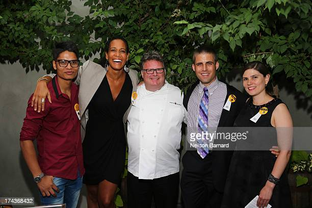Parbat Chapagai Aisha Bain Chef David Burke Alex Sweet and Sarah Booth attend the International Rescue Committee's Third Annual GenR Summer Party at...