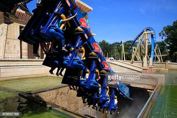 Parc Asterix Oziris the famous inverted coaster