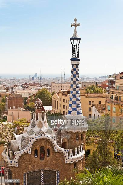 Parc Guell by Antoni Gaudi, Barcelona, Spain