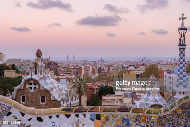 parc guell - barcelona spain stock pictures, royalty-free photos & images