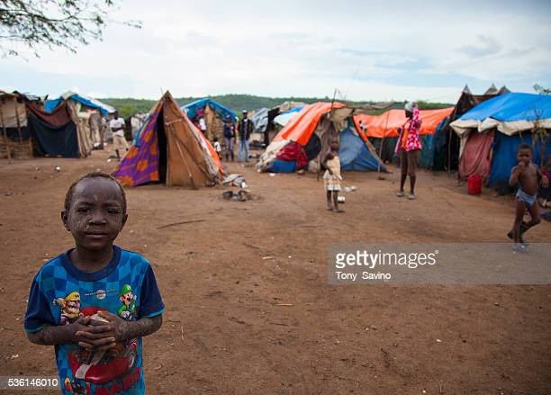 Parc Kado 2 Refugee Camp AnseaPitres Haiti 16 October 2015 Hundreds of refugees living in squaler in refugee camps in the southern border town of...