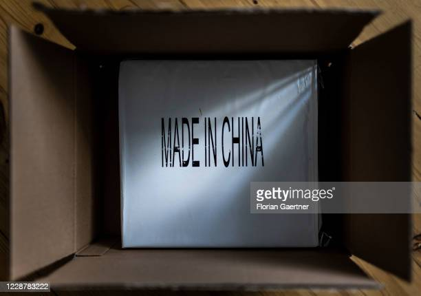 Parcel with the lettering Made in China is pictured on September 29, 2020 in Berlin, Germany.