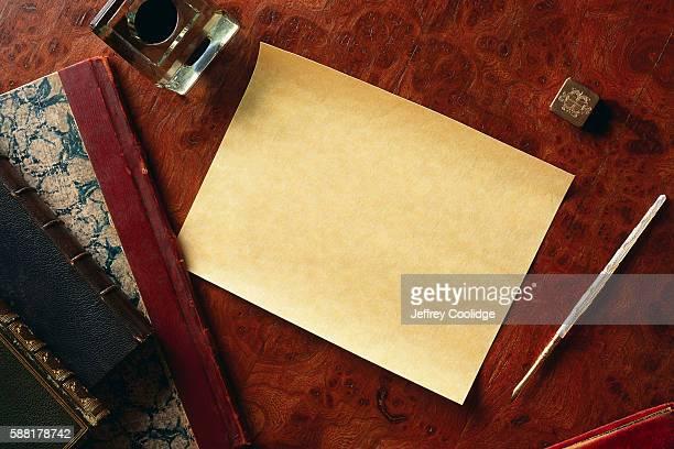 Parchment Paper on Desk