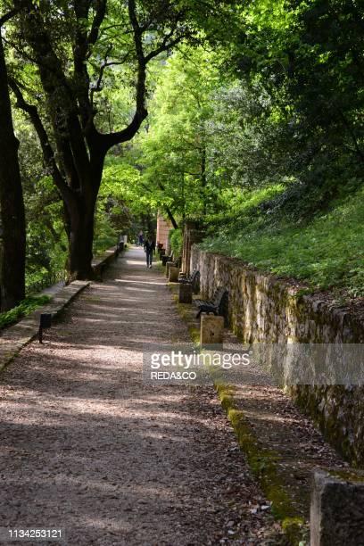 Parco Ranghiasci-Brancaleoni park. Gubbio. Umbria. Italy. Europe.