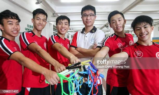 Parco Shum Pohang·Angus Wong Kaiming·Chow Winglok· Ken Cheng·Lau Honam and Ho Chuting of Hong Kong Rope Skipping Team in training at Ho Man TIn...