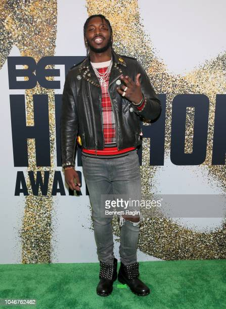 Pardison Fontaine arrives at the BET Hip Hop Awards 2018 at Fillmore Miami Beach on October 6 2018 in Miami Beach Florida