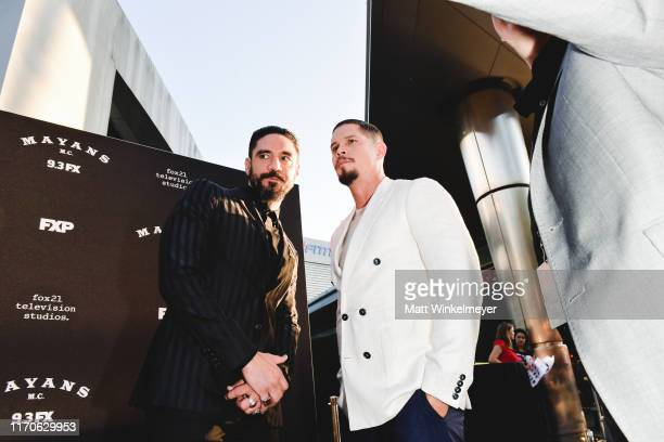 D Pardo and Clayton Cardenas premiere of FX's Mayans MC Season 2 at ArcLight Cinerama Dome on August 27 2019 in Hollywood California