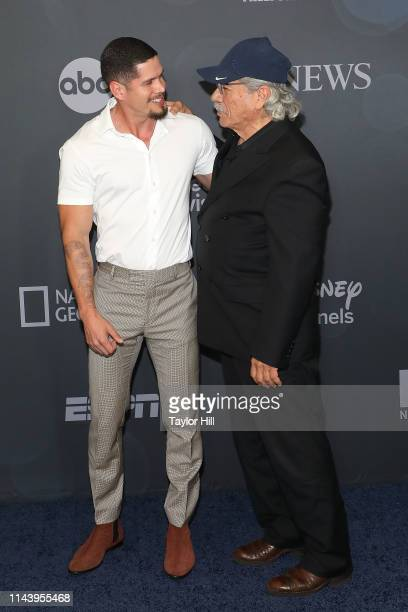 Pardo and Edward James Olmos attend the 2019 ABC Walt Disney Television Upfront at Tavern on the Green on May 14 2019 in New York City